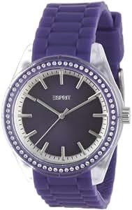 Esprit - ES900692006 - Play Winter - Montre Femme - Quartz Analogique - Cadran Violet - Bracelet Silicone Violet