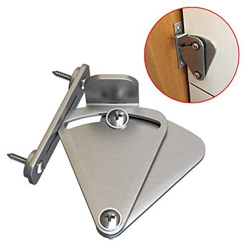 Chiusura a scatto scorrevole per porte a soffietto in acciaio inox per chiusure a chiave, porte scorrevoli e doppie, porte per garage e capannoni di piccole dimensioni
