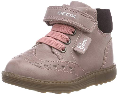 Geox Baby Mädchen B Hynde Girl B Stiefel, Dk Pink C8006, 24 EU (Kinder Boots Patent Rosa)