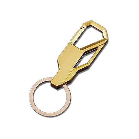 KooKen Creative Métal Car Keychain Anneau Porte-clés Porte-clés pour les hommes - doré