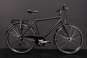 28 Zoll Alu MIFA Herren Trekking Fahrrad Shimano 21 Gang Nabendynamo schwarz...