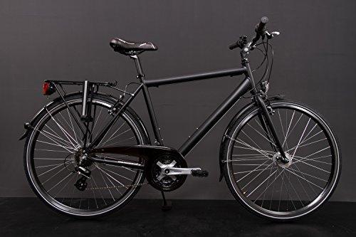 28' Zoll Alu MIFA Herren Trekking Fahrrad Shimano 21 Gang Nabendynamo schwarz Rh 55cm