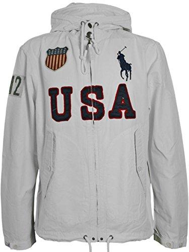 Ralph Lauren Herren Designer Polo Hoodie Jacke - USA BIG PONY -XL