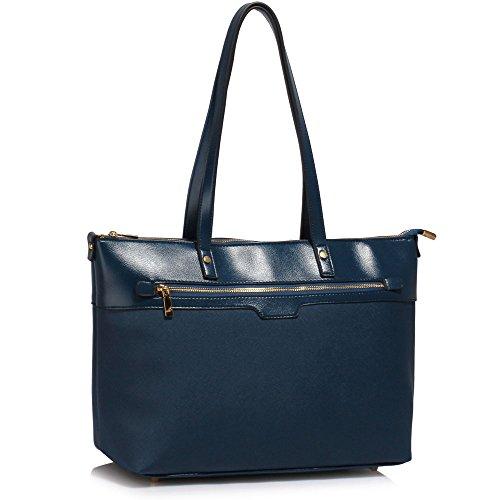 TrendStar Frauen Designer Taschen Patent Schulter Berühmtheit Stil Trage Damen Mode Handtaschen (C - Rot) C - Marine