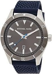 Michael Kors Layton Men's Grey Dial Silicone Analog Watch - MK