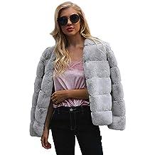 f97badee5b6a Manteau Femme Hiver Fausse Fourrure - Coat Winter Jacket Soirée Mariage  Manche Longue Survêtement Automne Adapté
