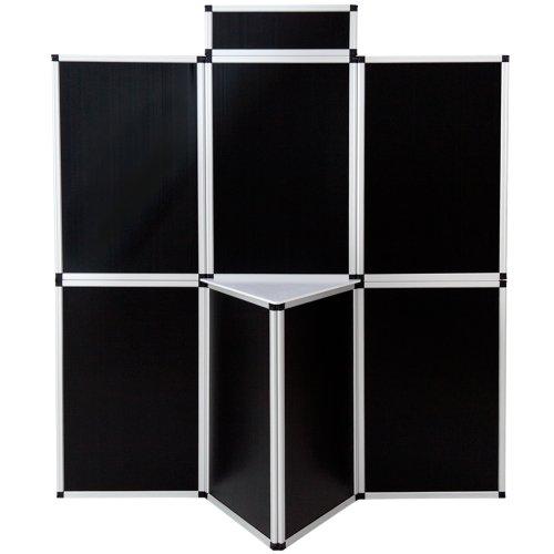 TecTake Promotionswand 180x200 cm Messestand Faltdisplay Faltwand Messewand mit Tisch - diverse...