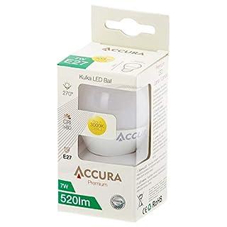Zarówka LED ACCURA Premium, kulka, E27, 7W
