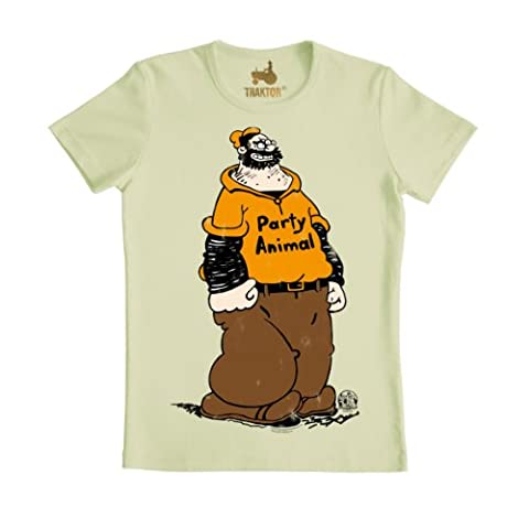 Popeye Party Animal - Traktor - Vintage SLIMFIT T-Shirt S-XXL, Größe: M,pastel green - Fun Party Animals