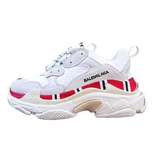 GERPY Hochwertiges echtes Leder Flacher Boden weiße Frauen beschuht weibliche Art- und Weiseart-Mischfarben-beiläufige Schuh-Plattform-Turnschuhe Wome -