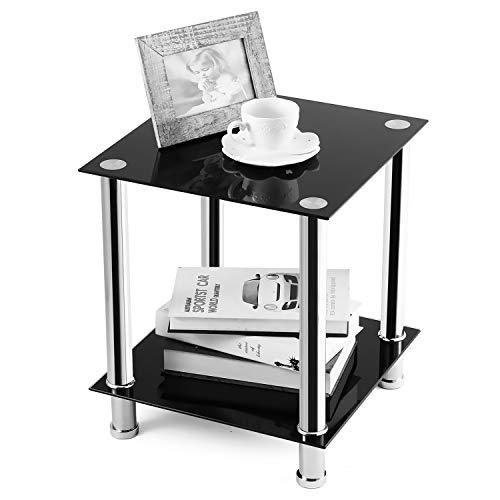 RFIVER Couchtisch Beistelltisch Sofa Tisch Nachttisch Nesting Tisch Viereckig 39x39x44,5 cm ET2001 -