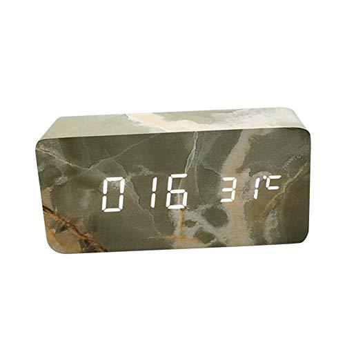 HCFKJ COOL, Moderne Digital LED 3D Tisch Schreibtisch Nacht Wanduhr Alarm Uhr Digital Clock Display (SGN2)
