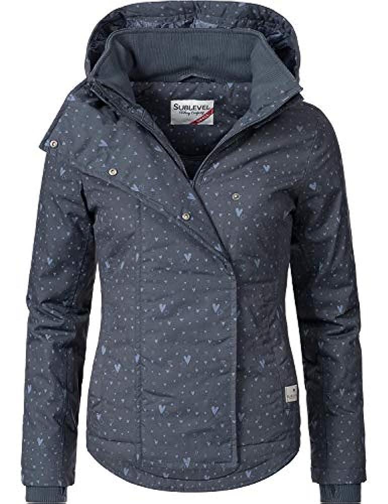Damen Jacke Übergangsjacke Funktion Mantel Wetterjacke Outdoor