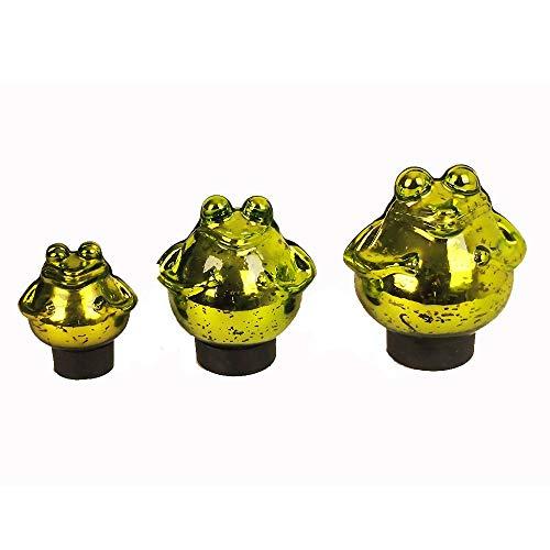 Bollweg Schwimm-Frosch klein Maße 9cm x 10cm in grün/glänzend aus Glas