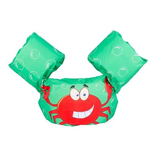 Ksnrang Schwimmflügel für Kinder und Kleinkinder von 2-6 Jahre, 15-30kg, Schwimmen Lernen Schwimmhilfe mit verschiedenen Designs für Jungen und Mädchen (Krabbe, Einheitsgröße)