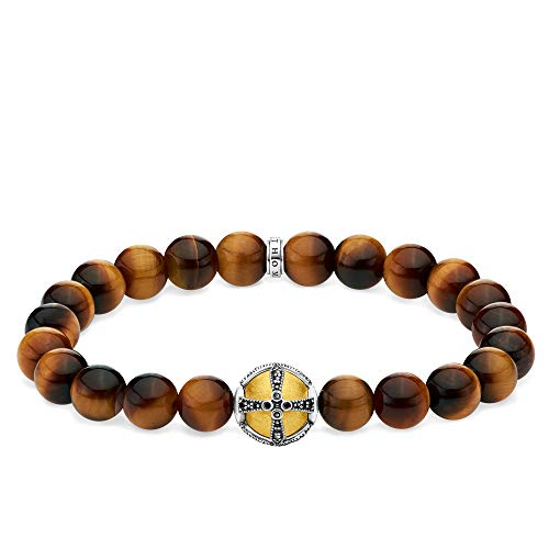 Thomas Sabo Unisex-Armband Kreuz gold 925 Sterlingsilber gelbgold vergoldet A1929-849-2-L16