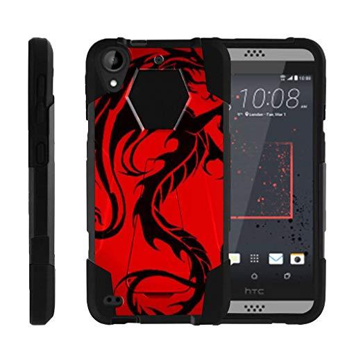 turtlearmor | Kompatibel für HTC Desire 530Fall | Desire 630| Desire 550[Dynamischer Shell] Hybrid Dual Layer Hard Shell Ständer Silikon Fall -, Red Dragon (Htc Desire Virgin Mobile Fall)