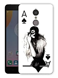 "Humor Gang the a card girl Printed Designer Mobile Back Cover For ""Lenovo k6"" (3D, Matte Finish, Premium Quality, Protective Snap On Slim Hard Phone Case, Multi Color)"