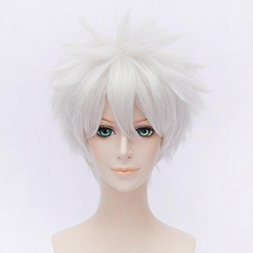 suri Weiß Anime Cosplay Perücken GINTAMA Sakata Gintoki Kostüm Party Haar (Einfaches Cosplay Kostüme)