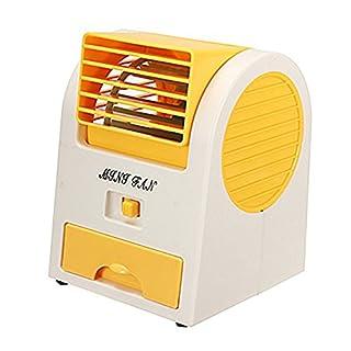Autoboy Mini USB Portable Desktop Bladeless Wind Cooling Bladeless Fan Air Conditioner(Orange)