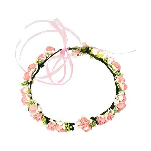 Fairy Kranz Blumen-Haarband mit verstellbarem Band und Blumenkrone für Kinder Mädchen Frisur