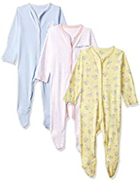 Mothercare Baby Girl's Sleepsuit (Pack of 3)