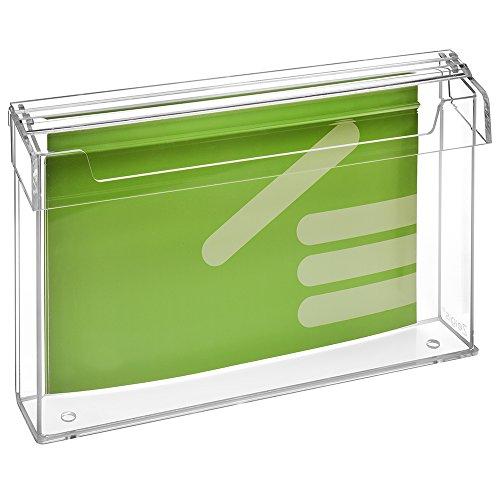 DIN A4 Prospektbox/Prospekthalter / Flyerhalter im Querformat, wetterfest, für Außen, mit Deckel, aus glasklarem Acrylglas - Zeigis®