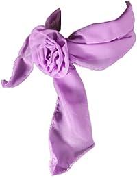 Foulard ou bandeau avec un clip rose, violet