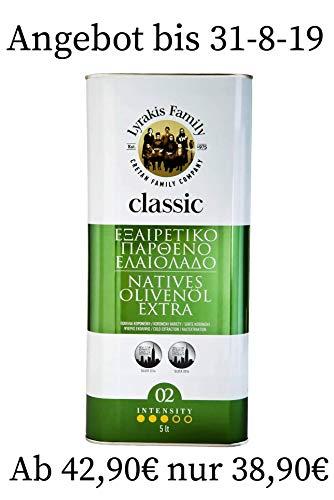 \'Lyrakis Family seit 1975\' Olivenöl 5 Liter Extra Vergine-Kaltgepresst aus Kreta-Griechenland |Extra Nativ 0,2{192db2f5db1863f452ad48bf17eb2949f846973a6b2d462c639586256500cc96} |PREMIUM| MediterranMarkt.de ✔Einführungspreise zum kennenlernen