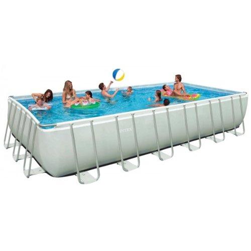 Frame Pool Set Ultra Quadra II inkl. Sandfilteranlage (732 x 366 x 132 cm, grau)