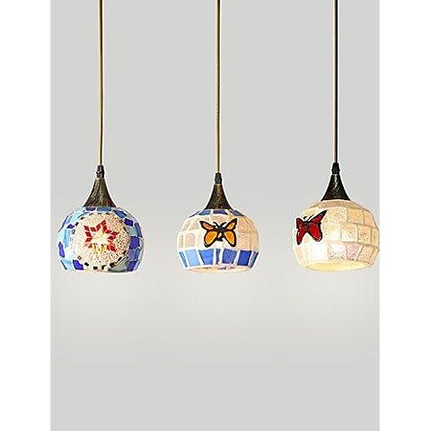 Restaurante Jardín mediterráneo europeo ZSQ / Creative 3 candelabros, única cubierta de diámetro 15 cm , 220-240 v #5078