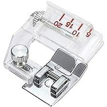 Prensatelas de cinta de bies ajustable, prensatelas para máquinas de coser domésticas, accesorios para