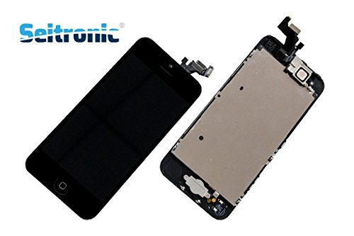 Seitronic Display iPhone 5 LCD VORMONTIERT mit RETINA Glas Touchscreen -SCHWARZ- BLACK - (5c-screen-ersatz)