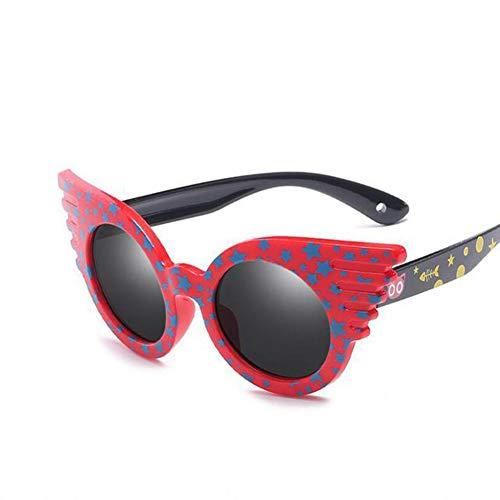 Li Kun Peng Kind Cartoon Kinder Sonnenbrille Polarisierte Marke Kinder Sonnenbrille Baby 100% Uv Schutz Oculos Junge Mädchen Schöne,C4Red