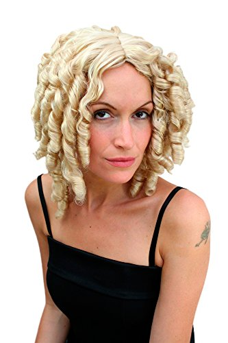 WIG ME UP  - PW0048-KB88 Fasching Perücke BLOND Barock Korkenzieherlocken