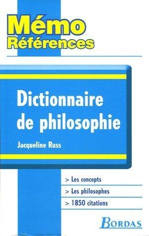 Dictionnaire de philosophie de Russ. Jacqueline (2005) Broché