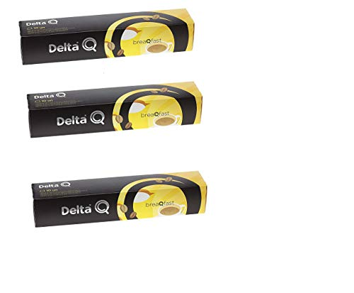 Pack XL 30gemahlener Kaffee Intenso und adulzado breaqfast- speziell hinzufügen einen Hauch von Cremige Milch-(adulzado) Kapseln Delta Q-3x 10= 30CAPSULAS