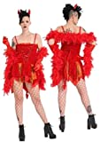 Islander Fashions Ladies Scary Red Devils Delight Costume Womens Halloween Outfit Set Completo Taglia Unica