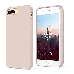 Iphone 8 Plus Hülle, Iphone 7 Plus Hülle, Surphy Silikon Schutzschale Vor Stürzen Und Stößen Silikon Handyhülle Für Iphone 8 Plus Iphone 7 Plus Schutzhülle 5.5 Zoll, Rosa