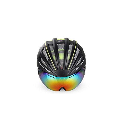 Dark Green-motorrad-helme (Ultra Light Weight - Spezialisierte Fahrradhelm, verstellbarer Sport Radsport Helm Fahrrad Fahrradhelme für Road & Mountain Biking, Motorrad Für Erwachsene Männer & Frauen, Jugend - Rennen, Sicherheit Schutz ( Color : Dark green (color lens) ))