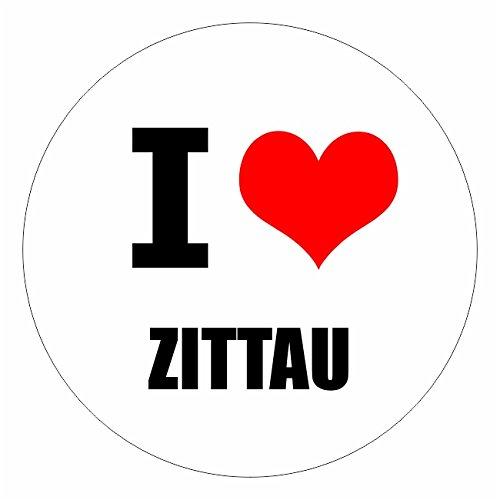 I love Zittau Görlitz in 2 Größen erhältlich Aufkleber mehrfarbig Sticker Decal