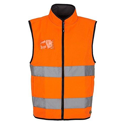 Diadora Warn-Weste/Arbeitsweste, Hohe Sichtbarkeit, umkehrbar HV ISO, 20471: 2013,2. Kategorie, 702.170747, Orange, 702.170747 M -