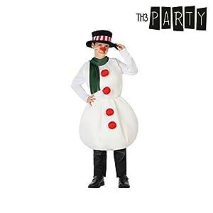 Atosa-32214 Atosa-32214-Disfraz Muñeco Nieve niño Infantil-Talla Navidad, Color Blanco, 7 a 9 años (32214)