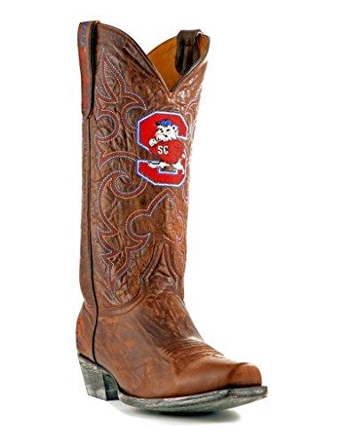 NCAA South Carolina State Bulldogs Herren Boardroom Style Boots, Herren, SCS-M195, Messing, 8 D (M) US - Carolina Messing