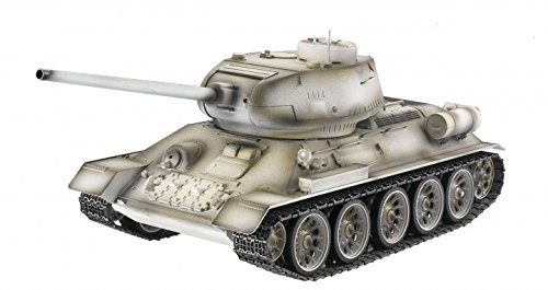 Preisvergleich Produktbild Torro 3909-B - T34/85 RC Panzer 2.4 GHz 1/16 Profi-Metall BB, schneetarn