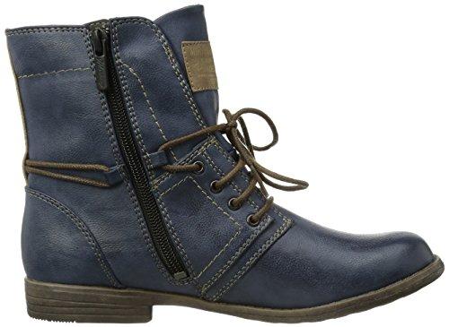 Mustang Damen Kurzschaft Stiefel Blau (800 dunkelblau)