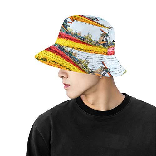 Cappello spiaggia maschile cappello in legno mulino a vento fiore estate strada unisex pesca top secchiello cappelli per ragazzi donne pescatore cappello sport all'aria aperta pesce secchio cappello
