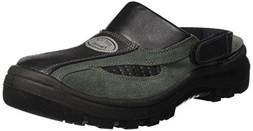 Preisvergleich Produktbild Routier Comfort II Sicherheitsschuh,  grün / schwarz offen mit Riemen SB+SRC