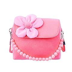 Idea Regalo - Gudotra Borsa Borsetta da Bambina Carini Principessa Rosa Velluto con Fiore Regalo Compleanno Bambina