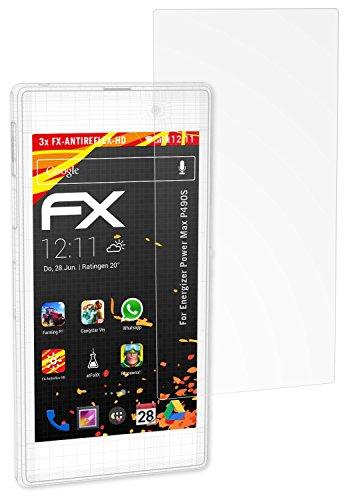 atFolix Schutzfolie kompatibel mit Energizer Power Max P490S Bildschirmschutzfolie, HD-Entspiegelung FX Folie (3X)